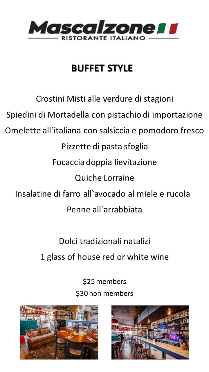 Mascalzone menu