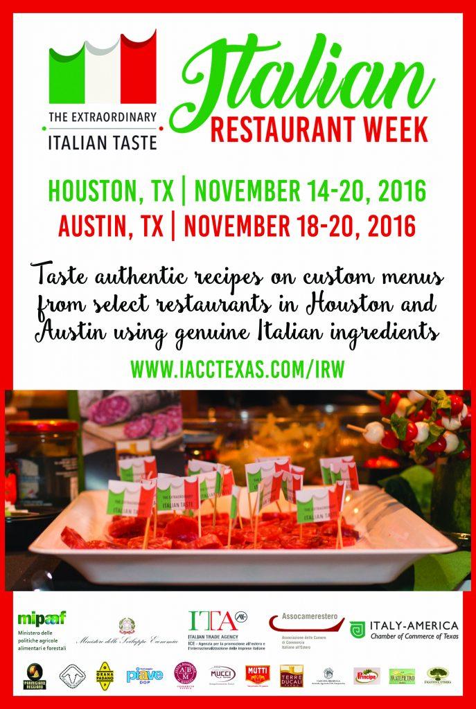Italian Restaurant Week Iacctexas